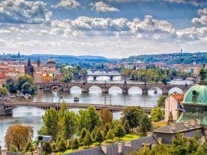 Месторасположении Чехии
